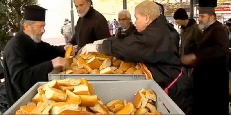 Грчката црква секојдневно храни околу 10.000 сиромашни во Атина