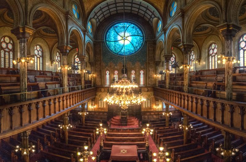 Елдриџ стрит Синагоата во Њујорк, - Еврејски ( Една од првите синагоги изградени во САД во 1887 година)