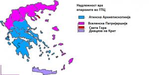 Јуриздикцијата врз епархиите во Грција