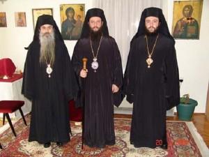Јован со двајцата епископи, Јоаким и Марко, што СПЦ ги создаде за свои потреби