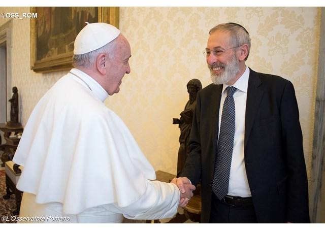Папата Франциск денеска во Синагога