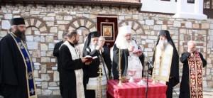 Осветување на новите конаци, Архиепископот, надлежниот митрополит и Игуменот