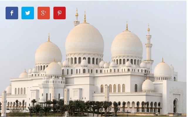 2 Големата џамија на Шеик Зајед (Абу Даби, Обединетите Арапски Емирати)