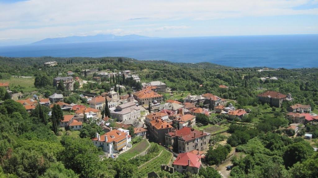 """Кареја - """"главниот град"""" на Света гора, центар од IX век."""