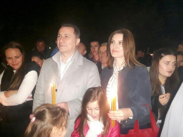Груевски за Велигден во црква во Радишани