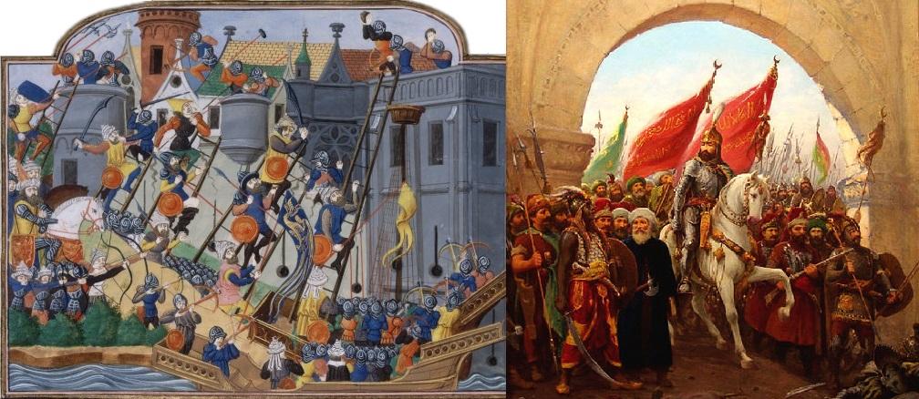 Падот на Византија и влегувањето на Мехмед II освојувач во Константинопол