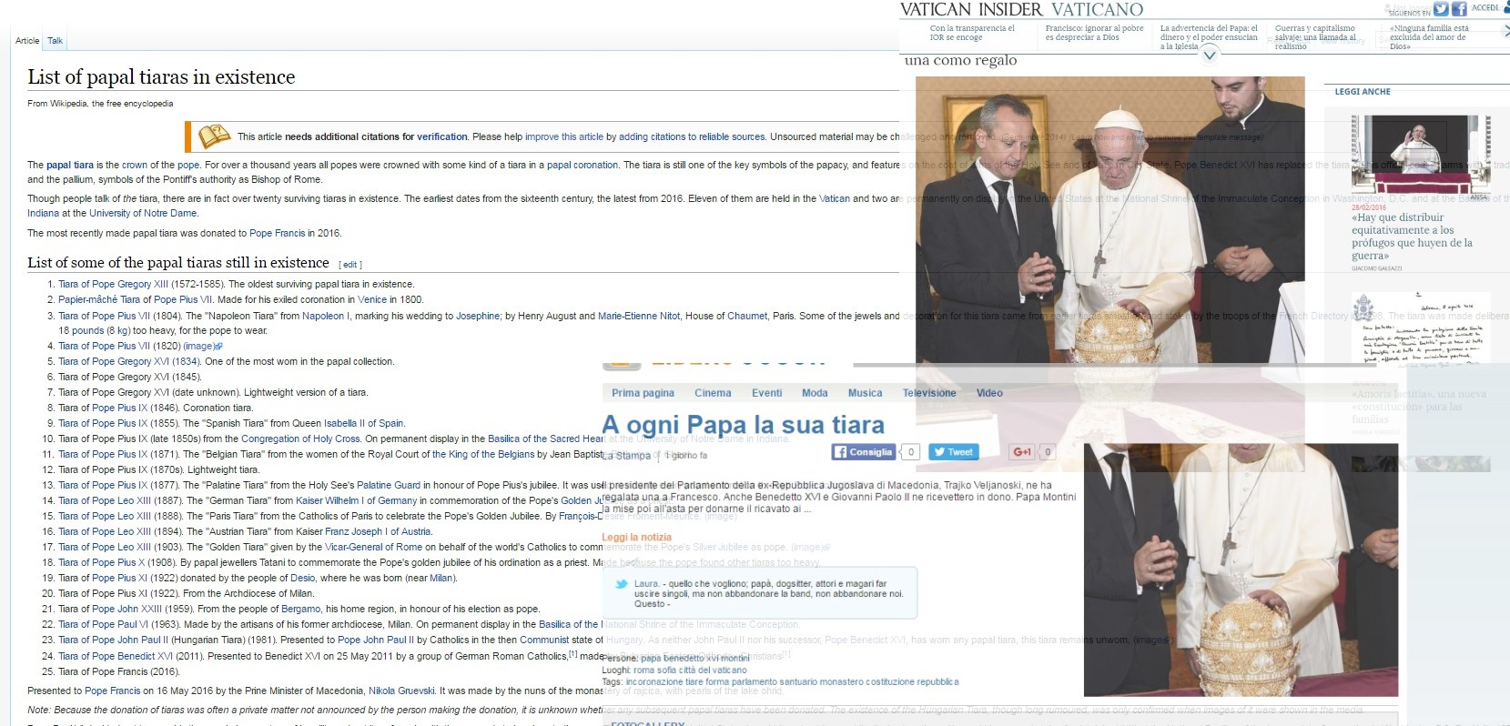 Митрата со охридски бисери главна вест во италијанските медиуми