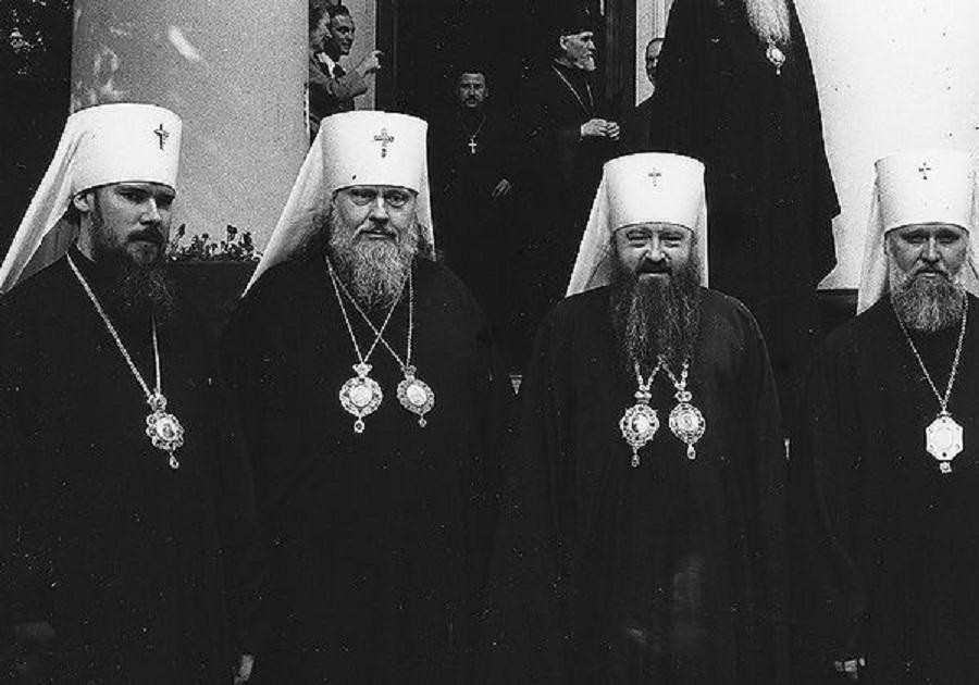 Признавањето на Американската православна Црква во 1970 година. Лево поранешниот Руски Патријарх, Алексеј