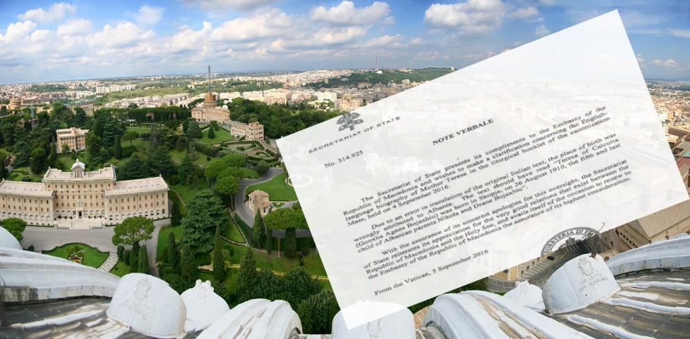 Ватикан се извини за грешката со местото на раѓање на Мајка Тереза