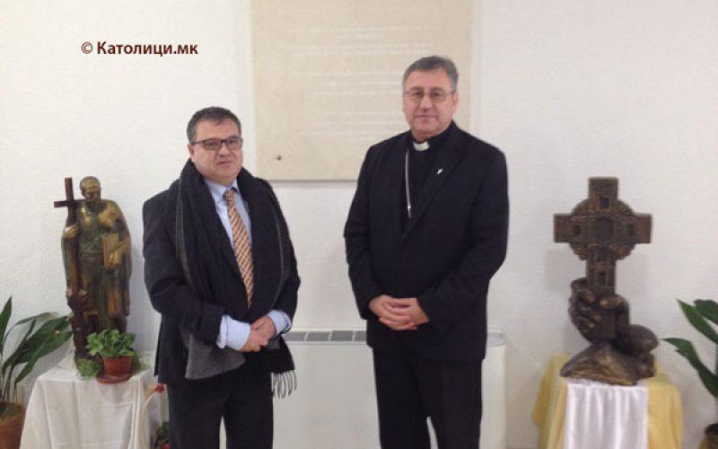 Францускиот амбасадор на гости кај Скопскиот бискуп