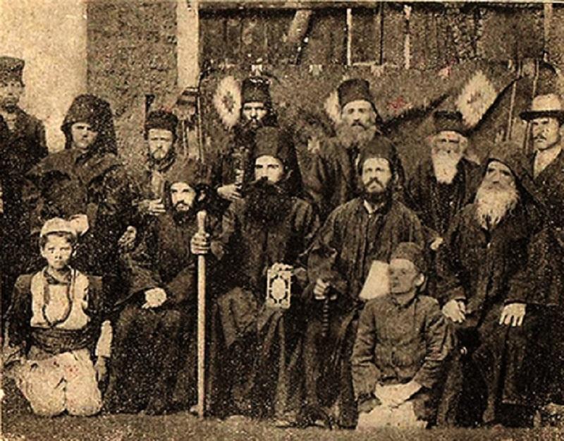 Игуменот Партениј со братството, 1912г