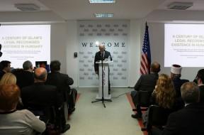 """Во """"Американ колеџ"""" во Скопје, предавање на тема """"Еден век од признавање на исламот во Унгарија"""""""