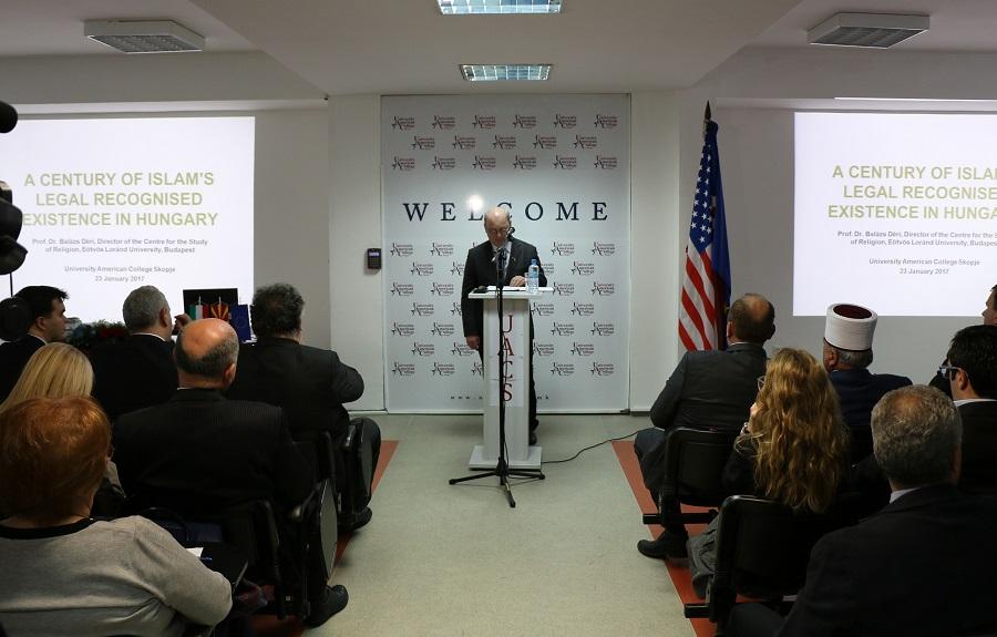 """Предавање на тема """"Еден век од признавање на исламот во Унгарија"""""""