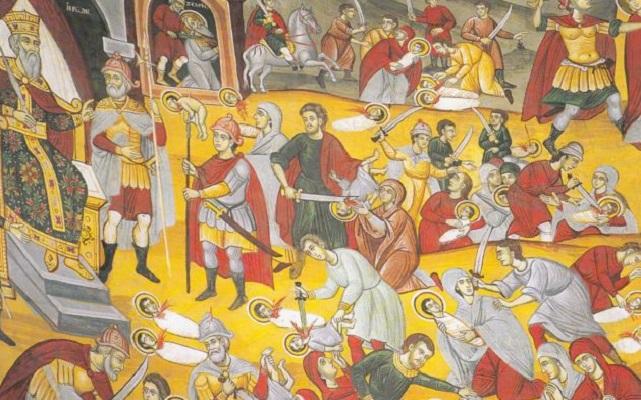 Спомен за младенците маченици во Витлеем