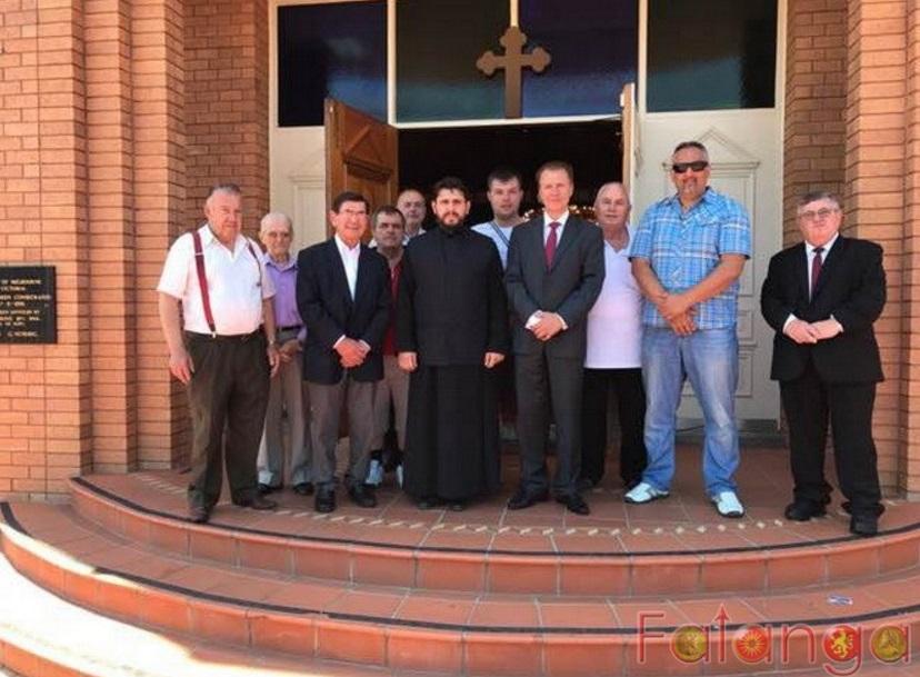 """Пристигна новиот свештеник во Црквата """"Св. Георгиј и Пресвета Богородица"""" во Епинг Австралија"""