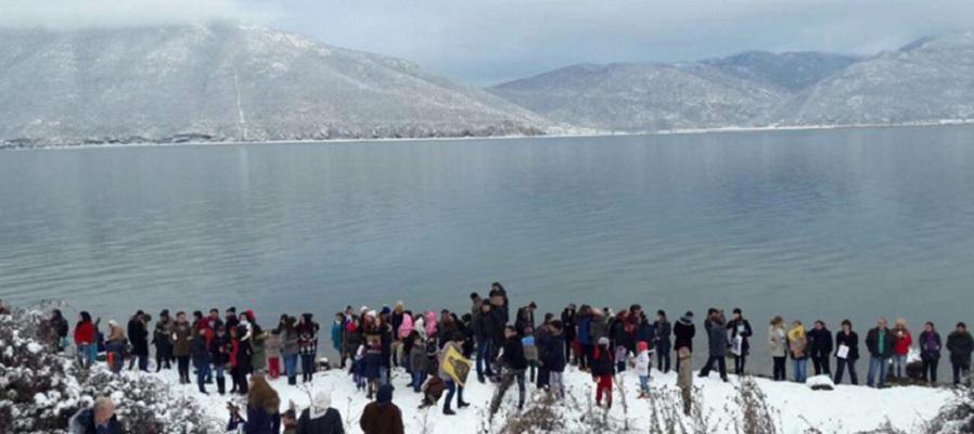 Богојавление го одбележаа и Македонците во Албанија