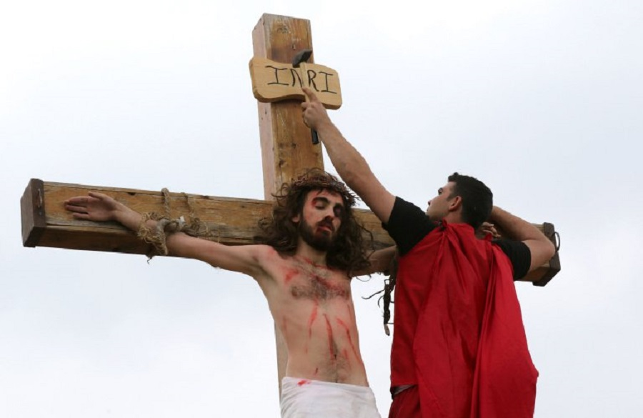 Lebanese Christians take part in a reena