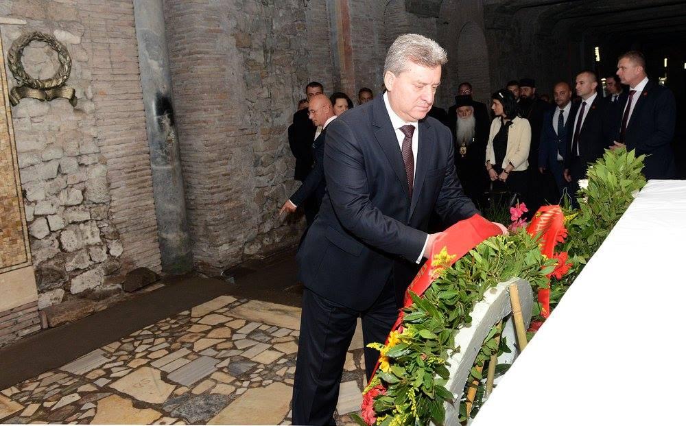 Иванов се поклони на гробот на Свети Кирил