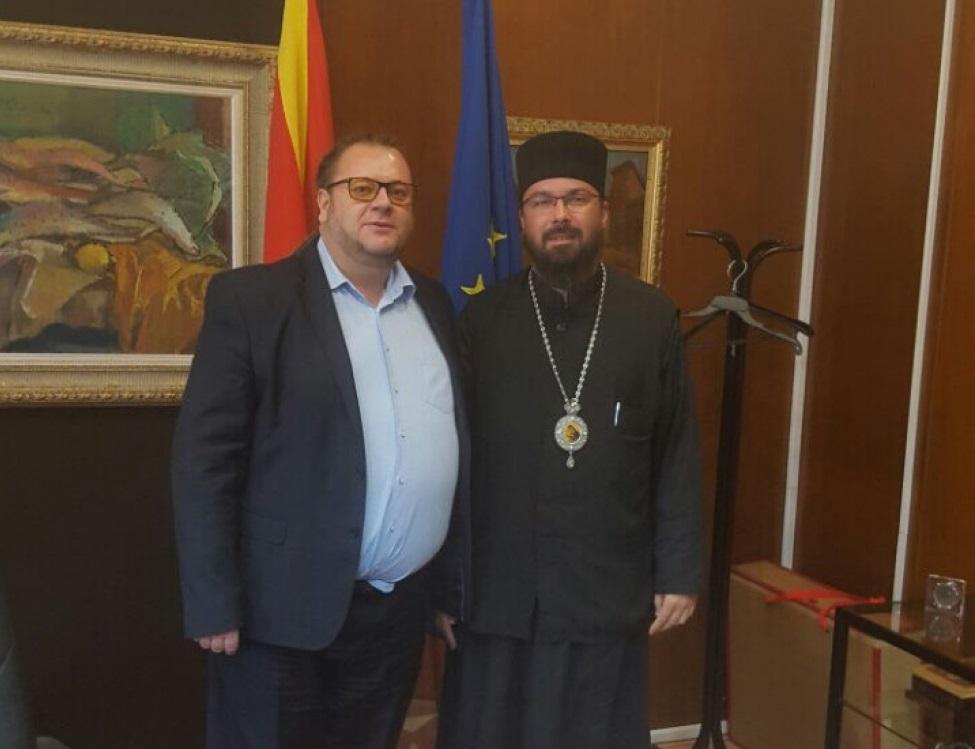 Министерот за култура на средба со владиката Јосиф