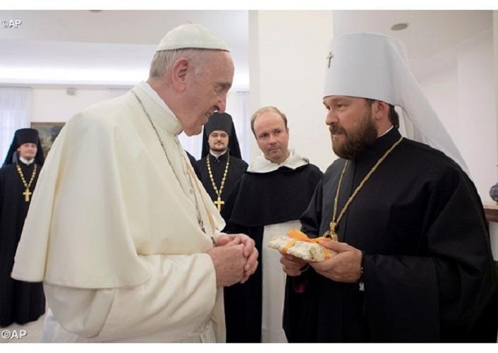 Митрополитот Иларион му соопштил на Папата дека Руската Црква ќе ги возобнови урнатите цркви во Сирија