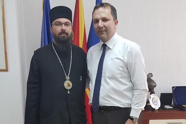 Владиката Јосиф на средба со Спасовски во МВР