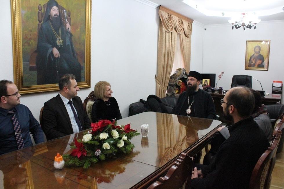 Владиката Јосиф на средба со градоначалничката на Тетово Арифи