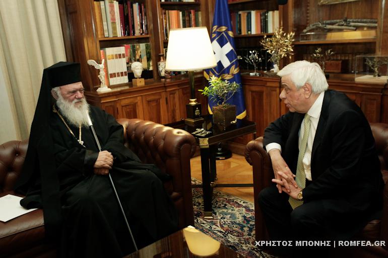 Грчкиот Архиепископ разговарал и со претседателот на Грција за името