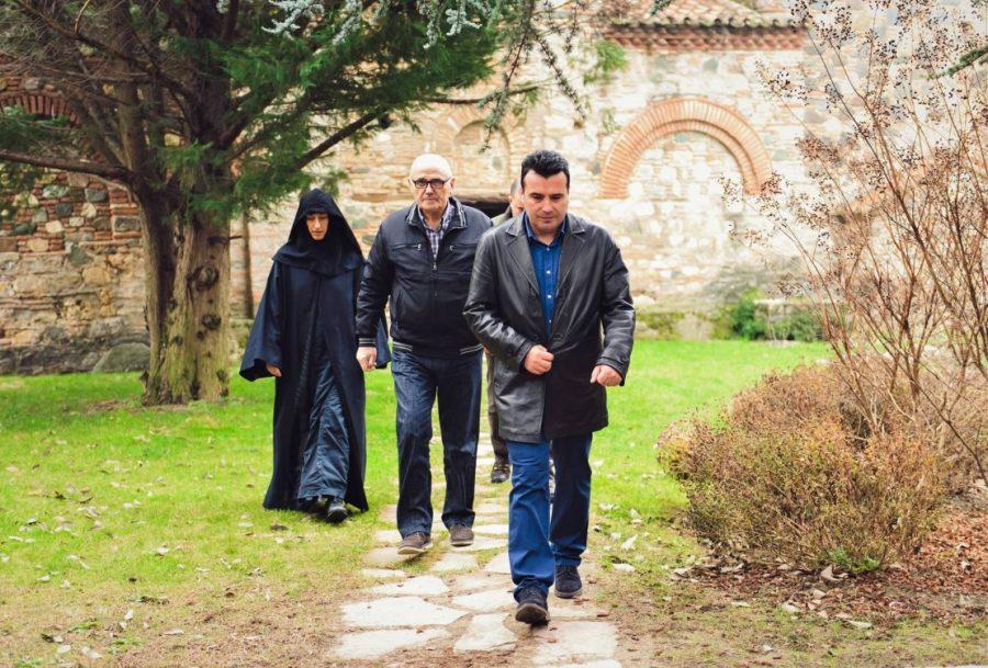 Заев на Божик во манастирот Водоча
