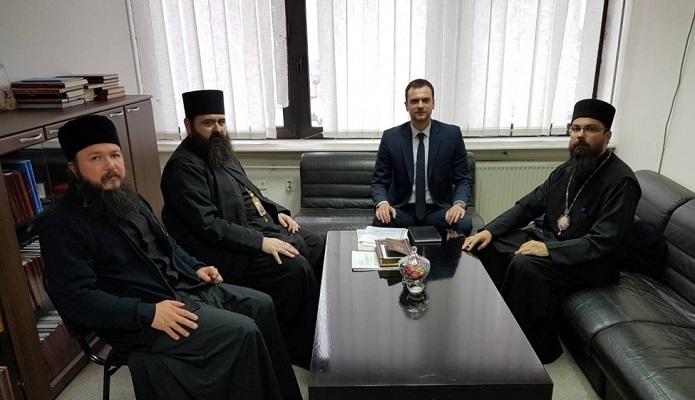 Владиците Јосиф и Јосиф на средба со новиот директор на Комисијата за верски заедници