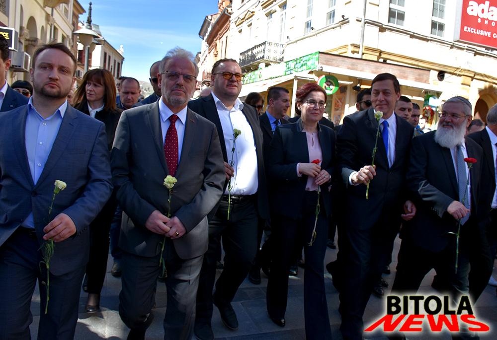 """Со """"Маршот на живите"""" одбележена годишнината од депортацијата на македонските Евреи"""