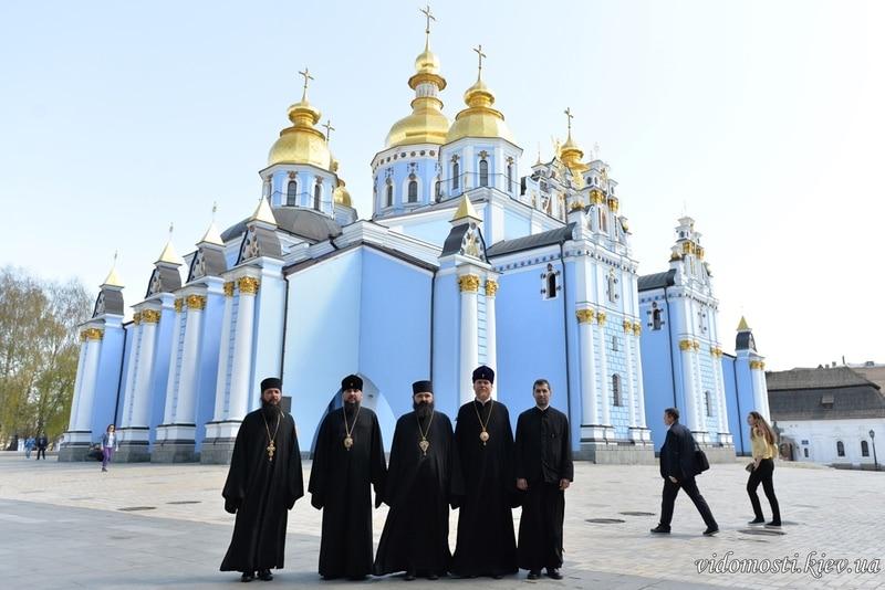 Владиката Јосиф на средби со  владици на Киевската Патријаршија