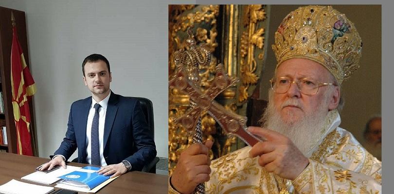 Сотировски го честиташе Велигден на Вселенскиот Патријарх и на поглаварите на соседните православни цркви
