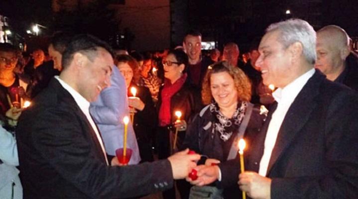 Премиерот Заев на Полноќна Велигденска литургија во Струмица