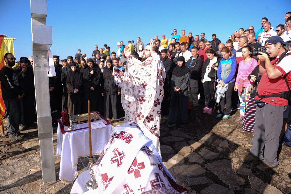 Божествена литургија на врвот на Крчин