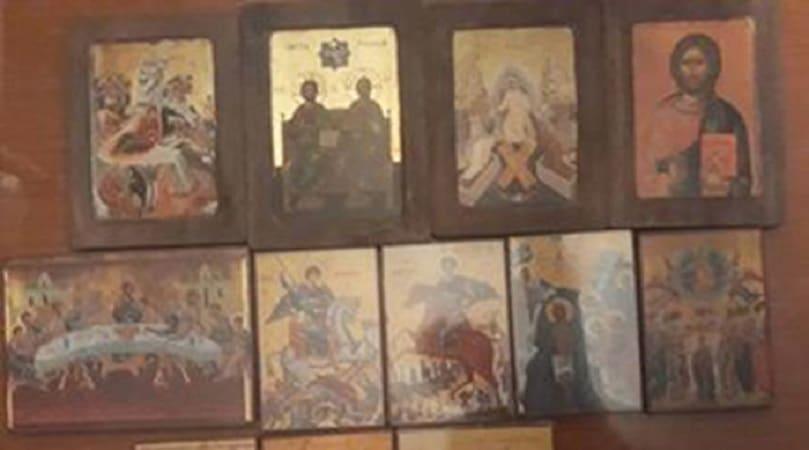 Бигорски и даруваше икони на црвквата во село Ербеле