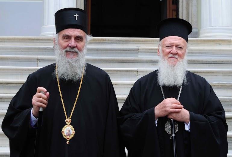 Вселенскиот и српскиот патријарх служеа во Солун, но не открија што разговарале за МПЦ-ОА
