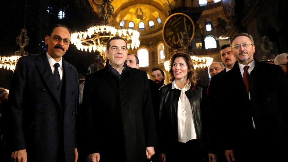 Ципрас ја посети Аја Софија, сака да ги подобри односите со Турција