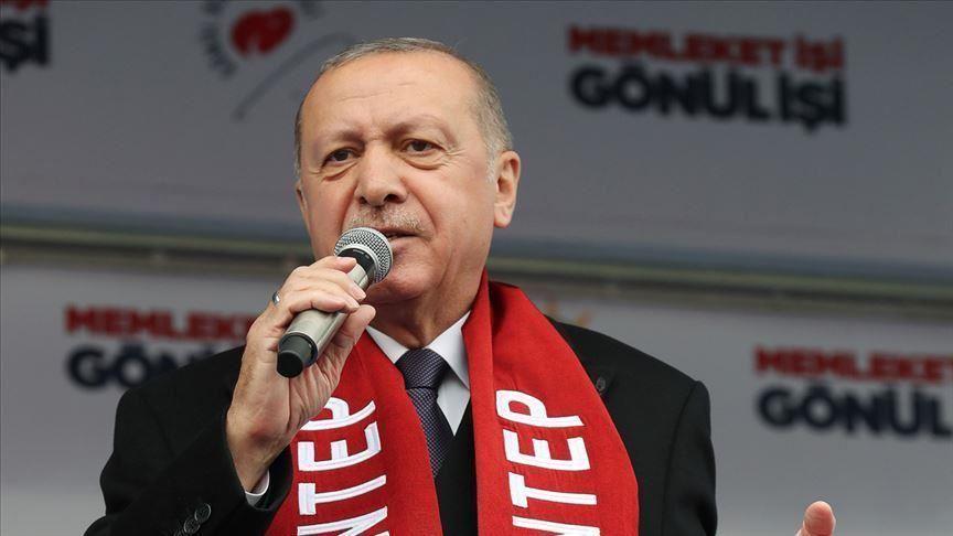"""Ердоган: """"Муслиманите никогаш нема да ги наведнат главите"""""""