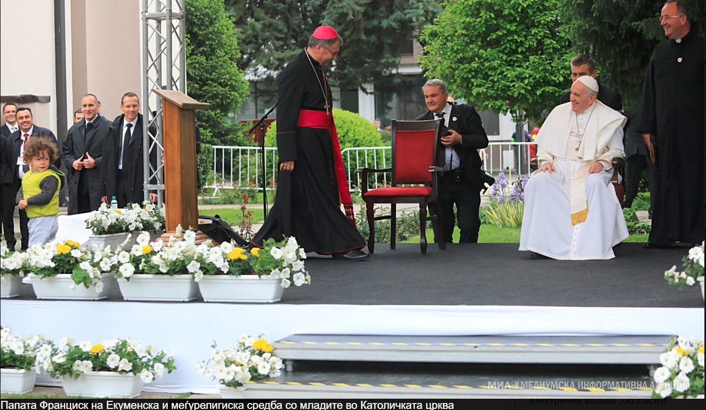 Екуменска и меѓурелигиска средба на папата со младите од Македонија