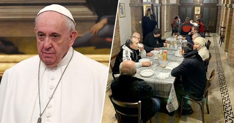 Папата им ја подари својата луксузна палата во Рим на бездомниците