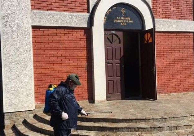 Дезинфицирани верските објекти во општина Гази Баба
