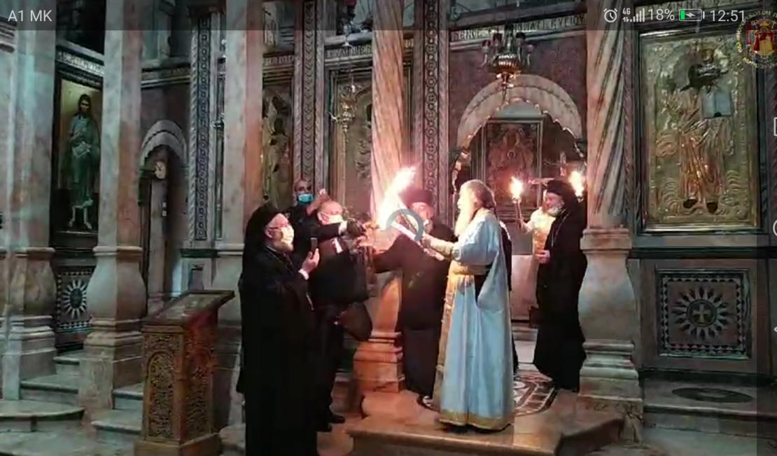 Благодатниот оган слезе во Ерусалим