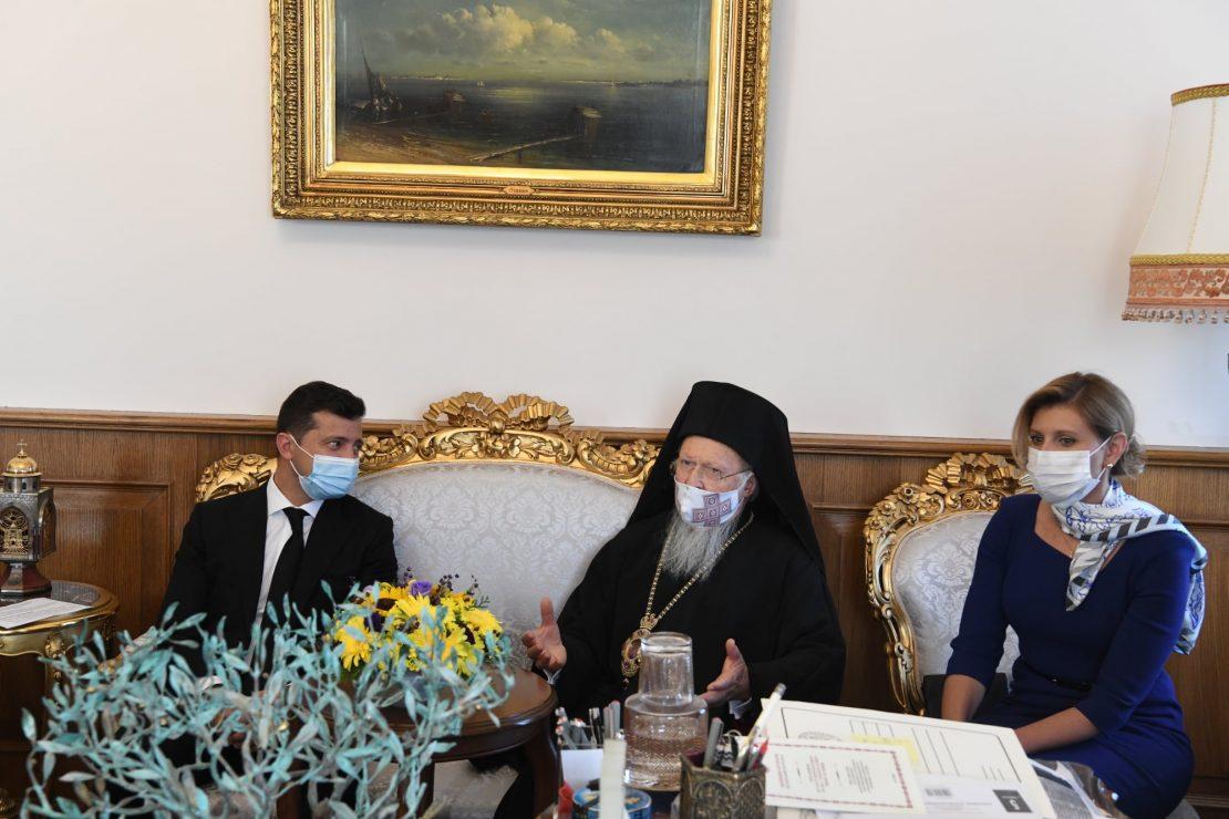 Украинскиот претседател на средба со Вартоломеј