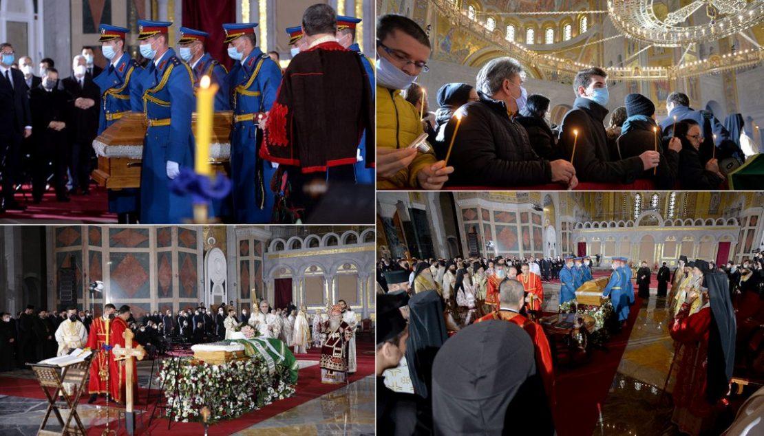 Српскиот патријарх Иринеј погребан во храмот Свети Сава