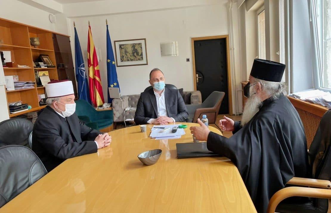 Филипче на среба со Архиепископот Стефан и Реисот Фетаи