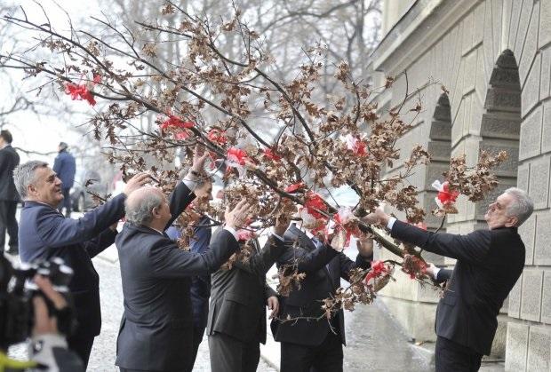 Бадниково дрво во резиденцијата на Претседателот