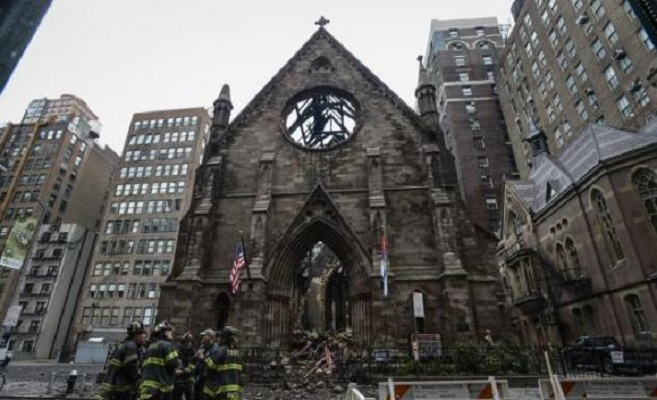 СПЦ основала фонд за изгорената црква во Њујорк