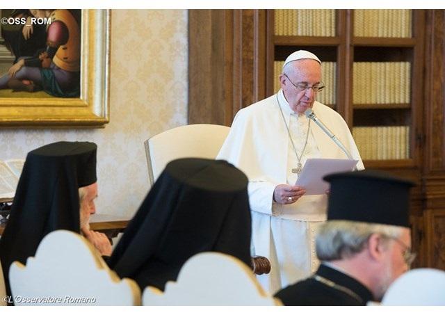 Вселенската Патријаршија на аудиенцијата кај Папата: Божјата љубов не обединува