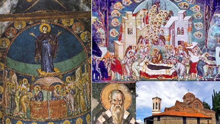 """Спасен фрескоживописот во """"Св. Богородица Перивлепта"""""""
