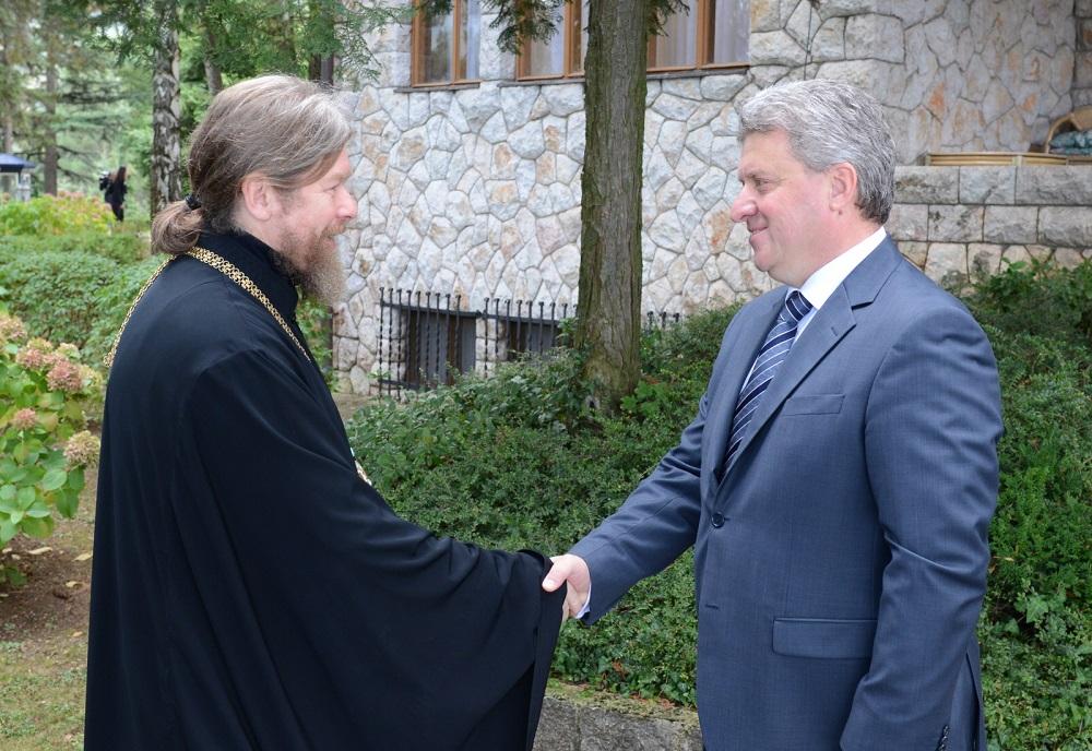 Претседателот Иванов се сретна со епископ Тихон, викар на патријархот московски Кирил